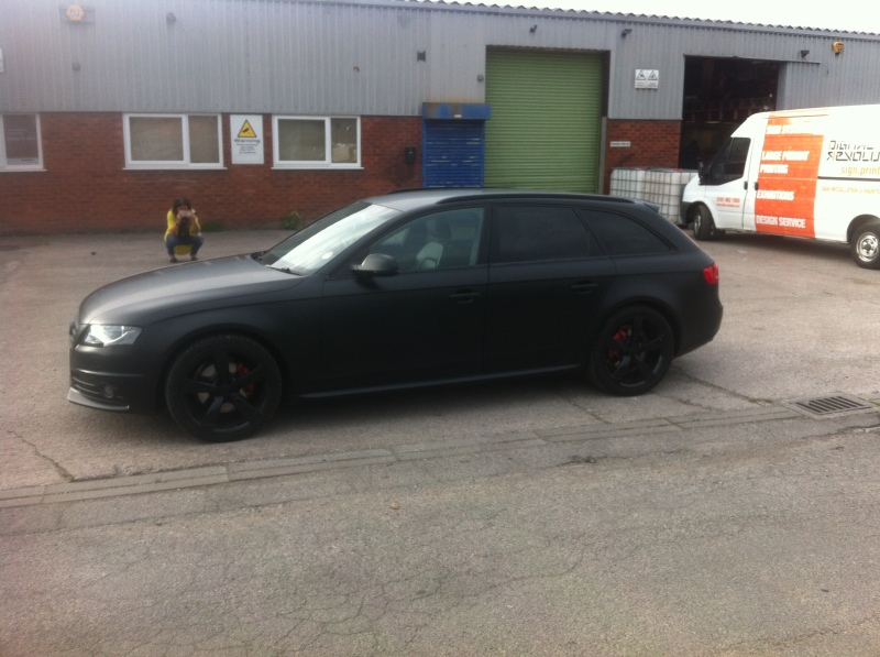 satin black vehicle wrap