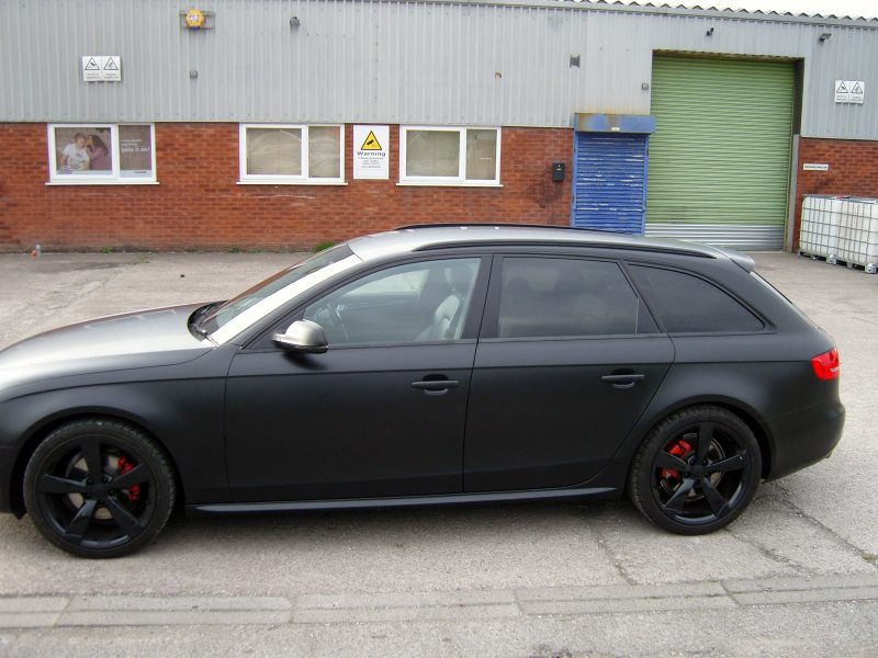 satin black audi wrap